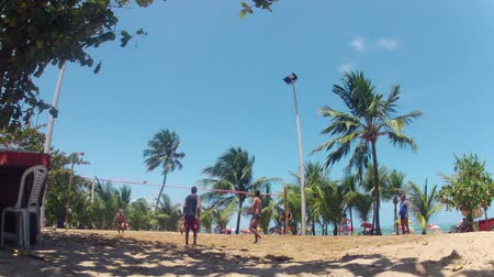 brazília : Game of FutVol on the Beach, Brazil