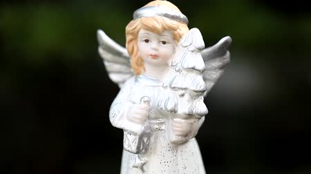 cintilante : Christmas angel isolated Stock Footage