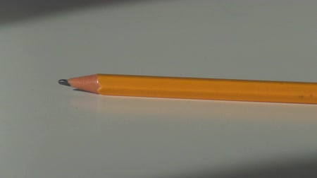 wooden pencil take and put on the office desk Dostupné videozáznamy