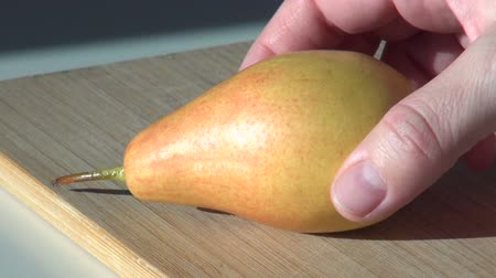 pear juicy fresh fruit. autumn harvest Dostupné videozáznamy