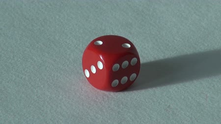 esély : two 2 red bone dice board game. choice casino
