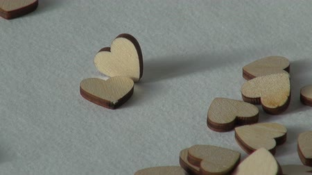 cupido : Love concept. Wooden heart. Holiday Valentines day