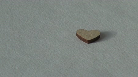 him : Love concept. Wooden heart. Holiday Valentines day