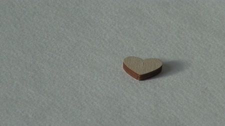 amor : Love concept. Wooden heart. Holiday Valentines day