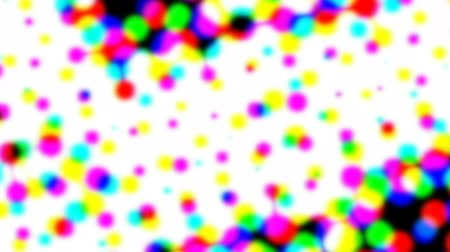 pontilhado : Abstract halftone live wallpaper. Iridescent dots surface for tv show intro, party, event, clubs, music clips, blog opener, vlog presentation or advertising footage. Banner for text, title, caption Stock Footage