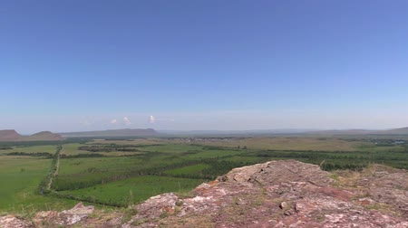 outlier : Republic Khakassia. Ridge chests. Panorama