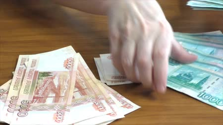 value clips : Female hands and Russian money