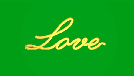 дополнительный : Handwritten Advice. Love smoothly appears on a green background. 3D animation rendering Стоковые видеозаписи