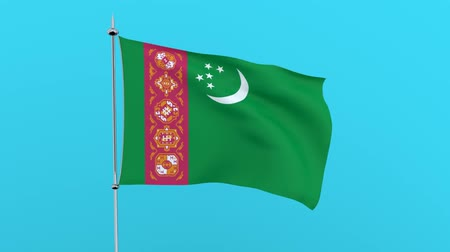 zuidpool : Flag of the Turks and Caicos Islands on green background. 3D rendering
