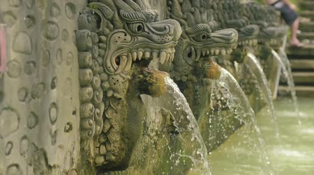 panas : statue at the hot springs in Bali