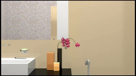 wanna : The camera shows shower room, gradually focusing on the flower