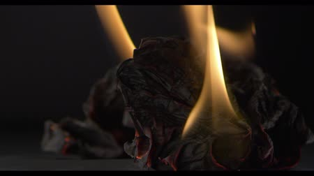 ardente : The musical book is on fire, the paper is on fire, black background
