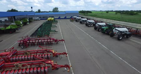 kombajn : the fleet of agricultural machinery, located in the territory of the agricultural complex