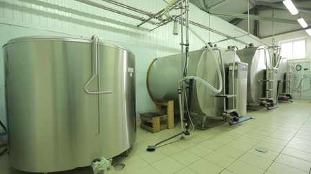 The processing of milk in tanks