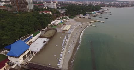調査 : aerial photography of the quay, the Black Sea coast in Russia
