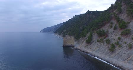 fotografia : aerial photography of the black sea, clouds in the sky Wideo