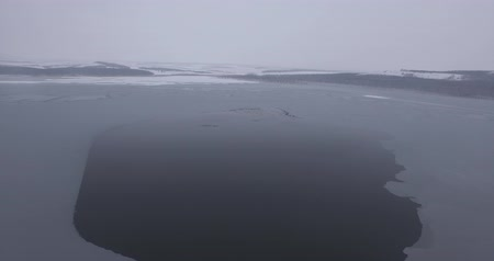 icy : a frozen winter lake