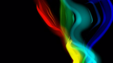 плазма : abstract rainbow-colored wavy background loop