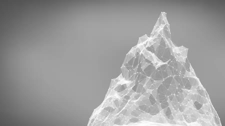 mesh : Abstract mesh mountain rotating. Technologies. Seamless looping.