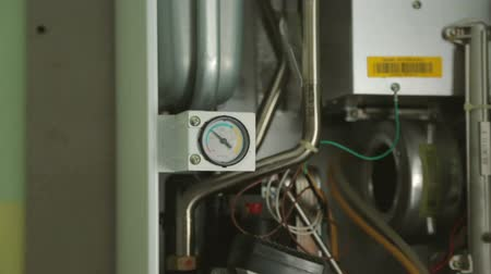 heating system : Gas-fire boiler in closeup