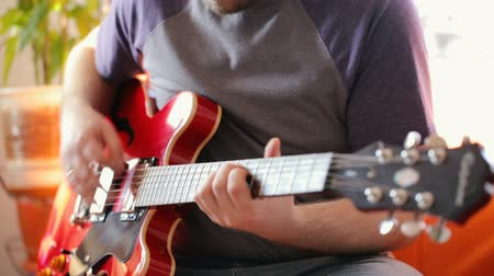acoustical : Musician playing electric guitar