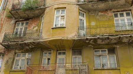 sofia : Old building in Sofia Stock Footage