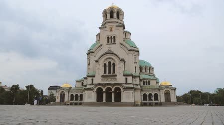 nevsky : Alexander Nevsky Cathedral in Sofia Stock Footage