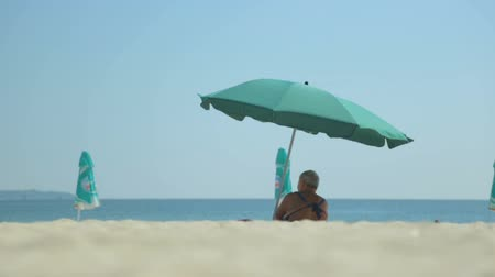 parasol : Summer seaside beach view