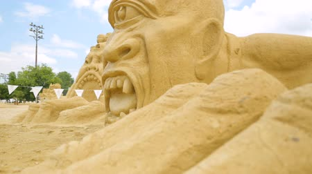 mitolojik : BURGAS, BULGARIA - JULY, 2018: Annual sand sculpture exhibition
