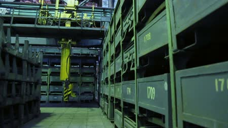 metal işi : Storage shop at machine works Stok Video