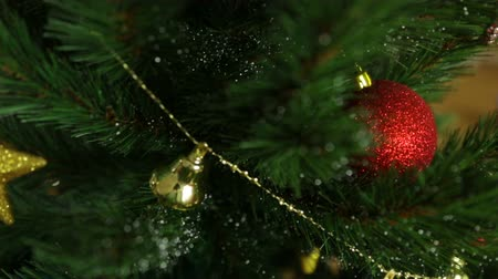 Christmas tree in closeup Stock mozgókép