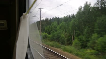 přihrádka : View from the trains window