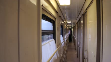 gangway : Walking along an aisle in a train