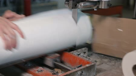 tecido : At paper manufacturing factory Stock Footage