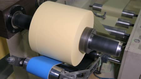 spool : At paper manufacturing factory Stock Footage
