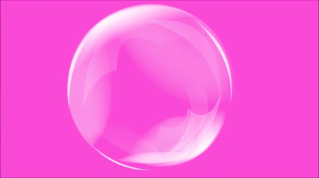 pink : Abstract motion soap bubbles over blurred beautiful pink background.Animation Stock Footage