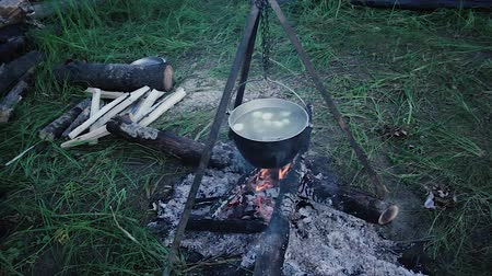 Food in the pot The food is cooked in a pot