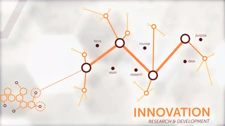 innováció : Innovation animation for corporate reports, graphs and statistics Stock mozgókép