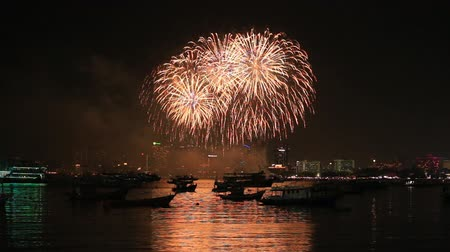 to celebrate : Pattaya International Fireworks Festival at Chonburi, Thailand