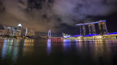 baía : 4k Time-lapse of Singapore cityscape