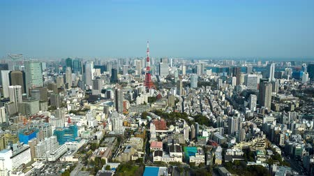 tokyo tower : Aerial view of Tokyo city, Japan