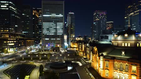 tokyo station : beautiful night scene of Tokyo Station in the Marunouchi business district, Tokyo, Japan
