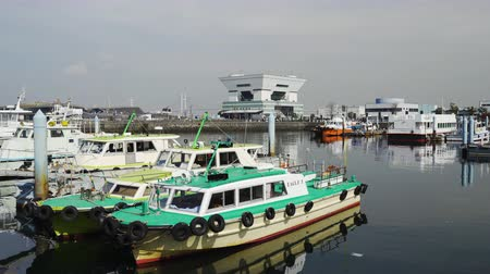 yokohama : YOKOHAMA, JAPAN - March 26, 2019: Scenery of port in Yokohama bay, Japan