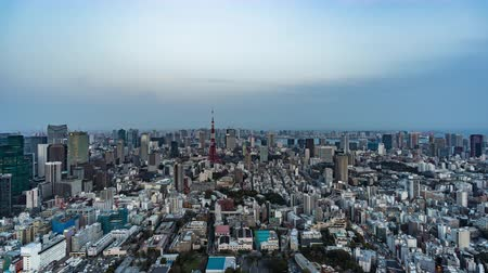 подопечный : day to night time lapse of Tokyo city, Japan