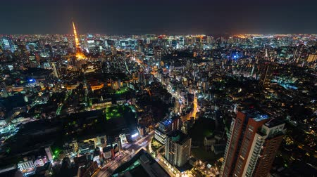 подопечный : time lapse of Tokyo city at night, Japan