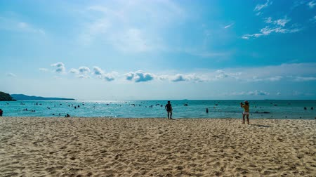kaew : time lapse of Sai Kaew Beach at Rayong, Thailand
