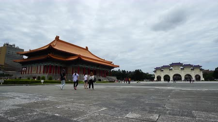 taipei : Taipei, Taiwan- 8 June, 2019: National Theater Hall and Liberty Square main gate of Chiang Kai-Shek Memorial Hall in Taipei, Taiwan. the famous landmark with popular travel of tourists visiting Taiwan.