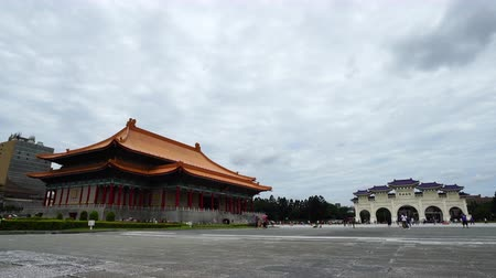 concert hall : Taipei, Taiwan- 8 June, 2019: National Theater Hall and Liberty Square main gate of Chiang Kai-Shek Memorial Hall in Taipei, Taiwan. the famous landmark with popular travel of tourists visiting Taiwan.