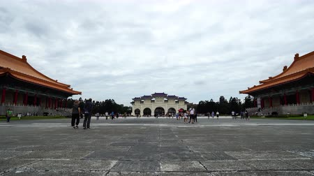 front door : Taipei, Taiwan- 8 June, 2019: Unidentified people visited Liberty Square of Chiang Kai-Shek Memorial Hall in Taipei, Taiwan. the famous landmark with popular travel of tourists visiting Taiwan.