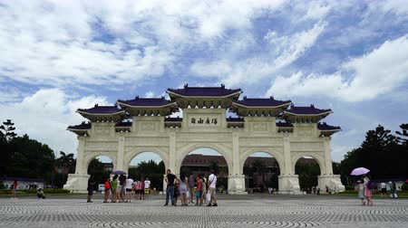 taiwan : Taipei, Taiwan- 8 June, 2019: Liberty Square main gate of Chiang Kai-Shek Memorial Hall in Taipei, Taiwan. the famous landmark with popular travel of tourists visiting Taiwan.